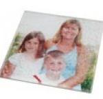 personalised tableware glass photo coaster