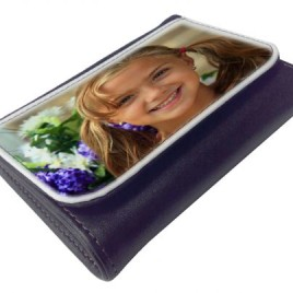 Leather-Look Photo Wallet