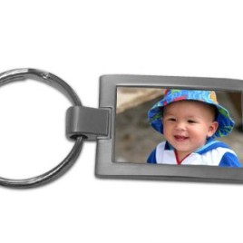 Metal Photo Keyring